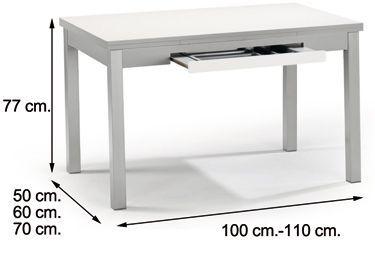 Mesa de cocina extensible MARTA