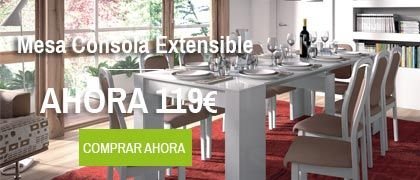 Oferta mesa Consola Extensible