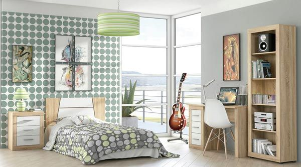 Dormitorio Laura juvenil con zona de estudio