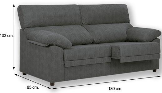 Sof extraible 3 plazas miri marengo comprar sofa barato - Sofa gris marengo ...