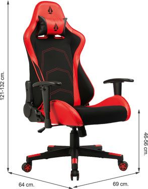 75540 silla gaming PRO GAMER RED silla estudio