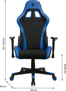 75541 silla gaming PRO SHARK BLUE silla estudio