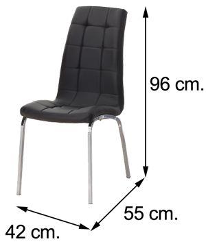 Silla sal n alexis negra comprar silla comedor barata for Sillas de montar baratas