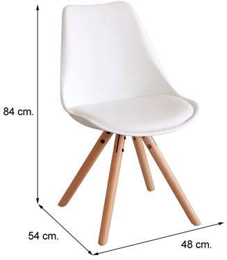 Silla leire dise o moderno comprar sillas baratas for Sillas de salon blancas baratas