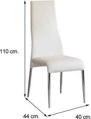 Medida silla Pando blanca
