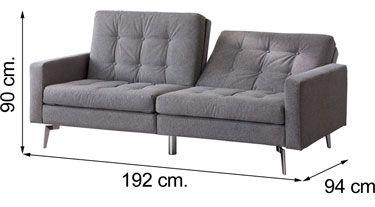 Sofá CITI estilo Vintage Gris