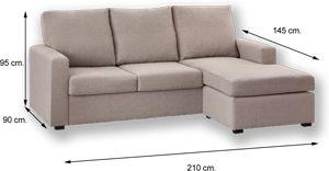 Sofa Nantes Chaiselongue Reversible