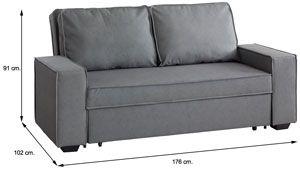 Medidas sofá cama Lina