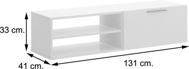 Mueble TV SOHO Blanco con Natural