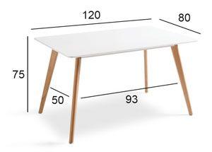 Medidas mesa comedor nórdica