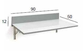Medidas mesa abatible cristal Ainhoa