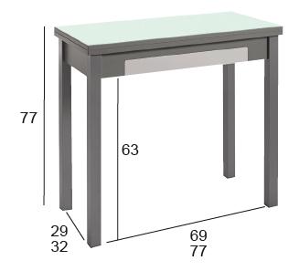 mesa cocina desplegable
